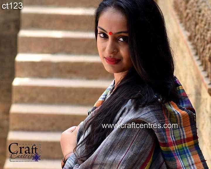 silk handloom kutchi saree
