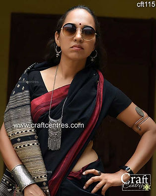 Tussar Silk With Cotton Bhujodi Saree 52