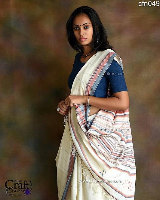 indigo and lakh natural dyes bhujodi cotton saree
