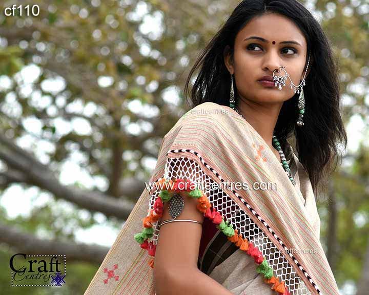 fine cotton handloom saree