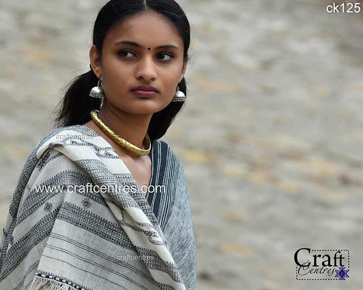 kala cotton bhujodi saree