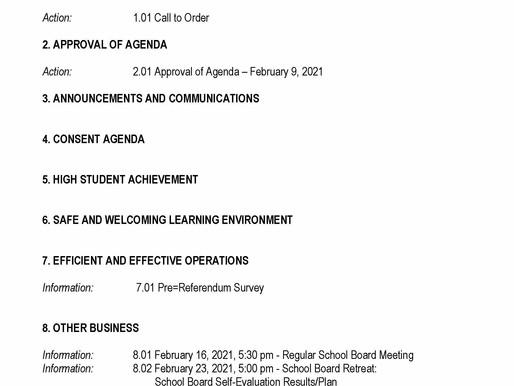 02/09/2021 School Board Meeting Preview