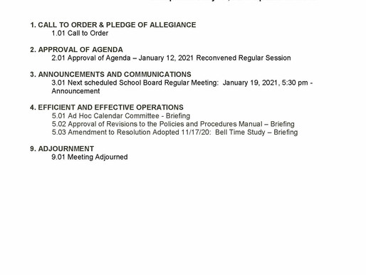 1/12/2021 RPS School Board Meeting Preview