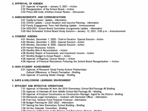 1/5/2021 School Board Meeting Preview