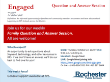 10/22 Family Engagement Q&A #1