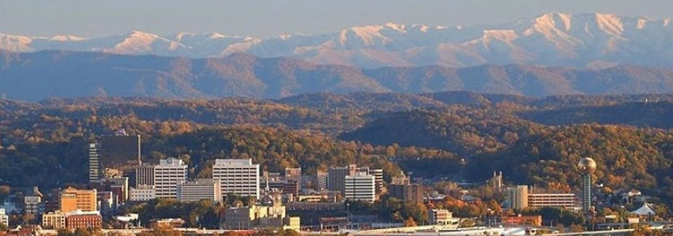 Knoxville City Skyline with Smokey Mountains
