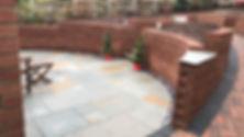 Beautiful garden renovation and brickwork