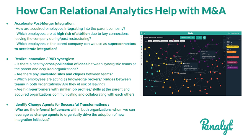 Relational Analytics For Mergers & Acquisitions / Restructuring