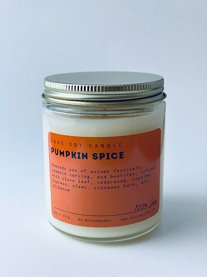 Pumpkin Spice Glass Candle