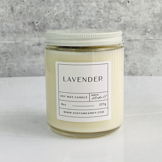 Lavender Glass Candle