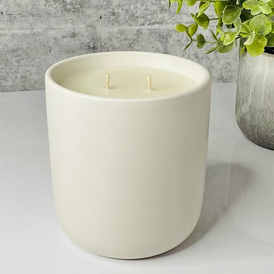 White  Ceramic Candle