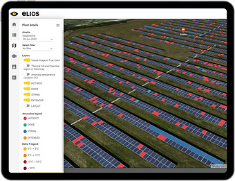 Elios Web-Portal on tablet