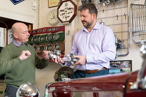 Richard discussing asset finance with a new customer