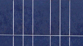 Close up view of solar panel