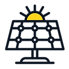 Elios solar panel PV plant icon