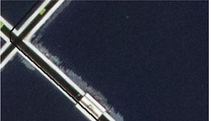 High definition view of damaged solar panel