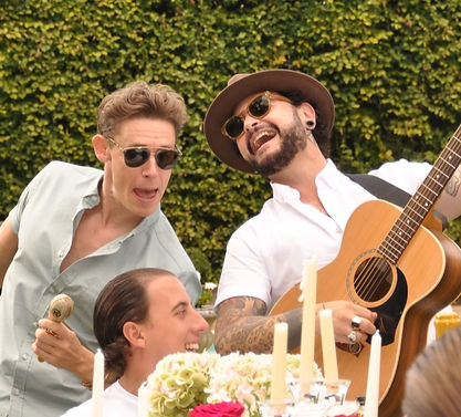I Ragazzi latin groove band performing at garden party