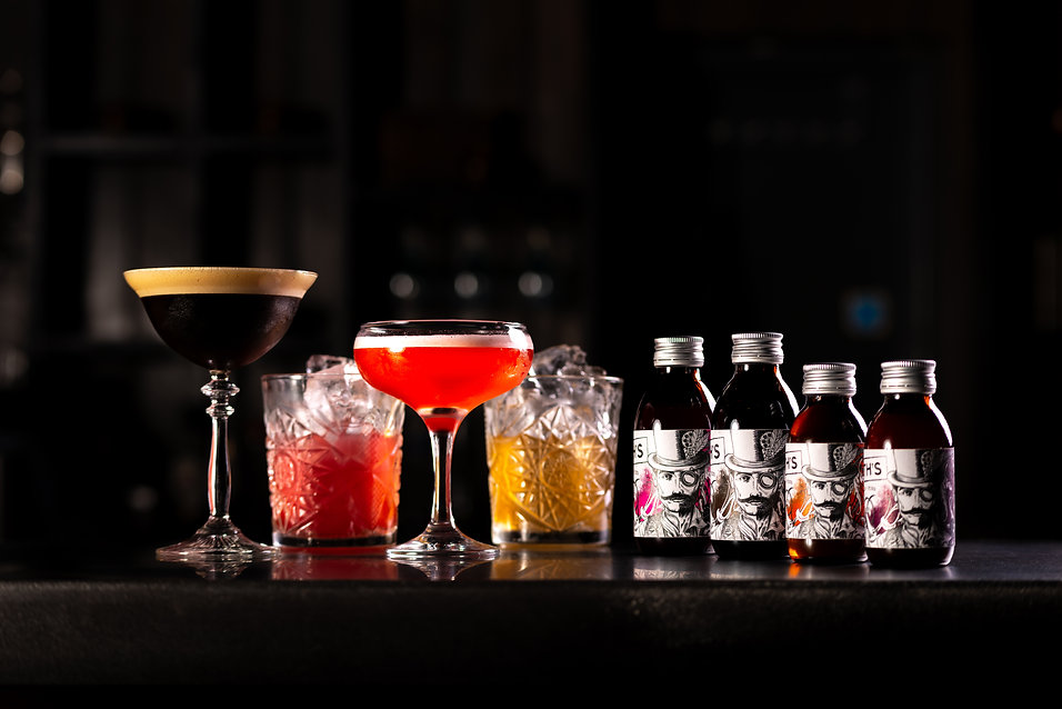 The first batch of 4 bottled craft cocktails from Smith's Cocktails