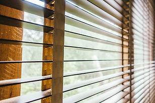 Antique wood blinds