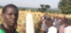 Julius with Maize cob during farmer fiel