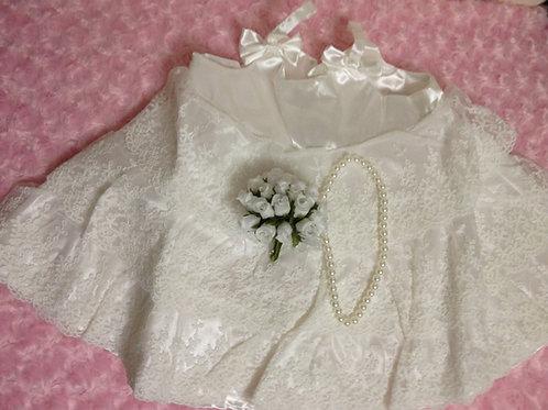 ぬいぐるみ用特大サイズウェディングドレス(ティアードタイプ)単品