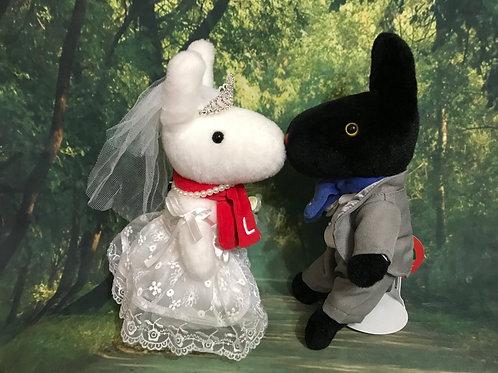 リサとガスパール「クラシックS」をウェルカムドールにする衣装セット(ぬいぐるみ含まず)