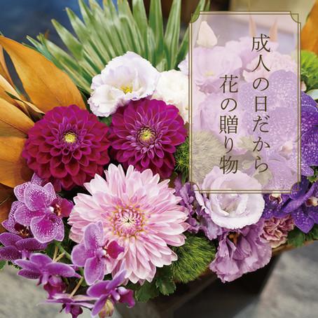 成人の日だから。花の贈り物