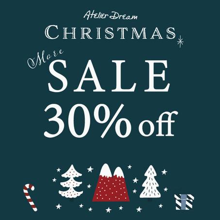 クリスマス、MORE SALE !