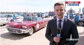 Channel nine coverage of Daniher's Drive FightMND