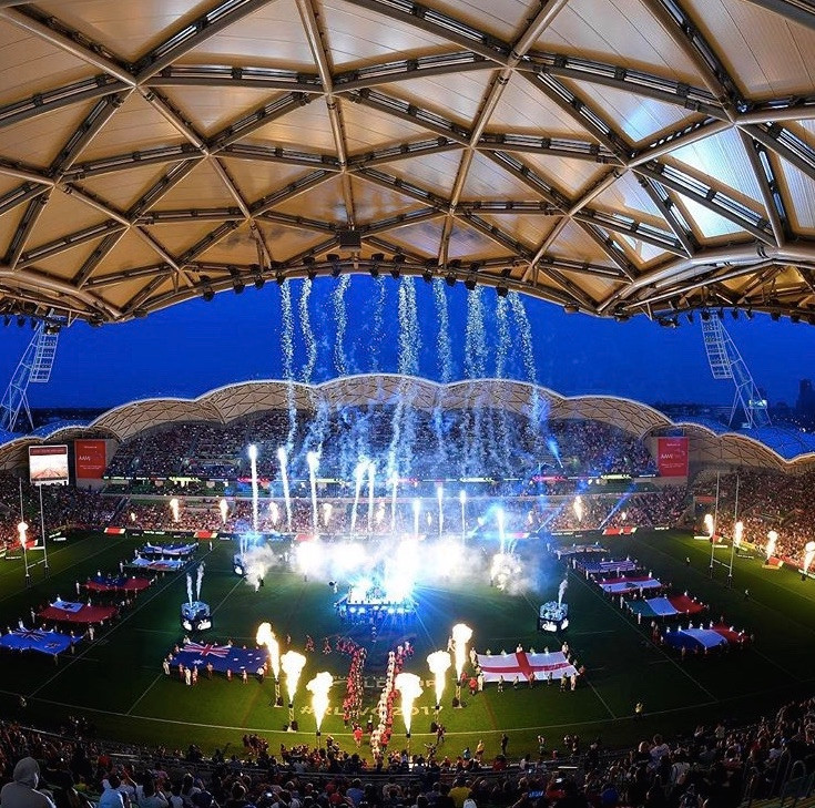 The opening ceremony RLWC Melbourne