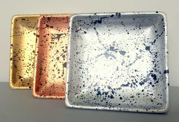 Metallic Splatter Trinket Dishes