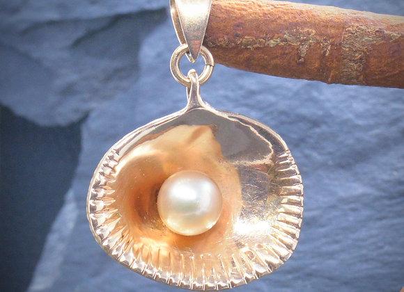 "Anhänger ""Muschel"" 585er Gold mit Perle"