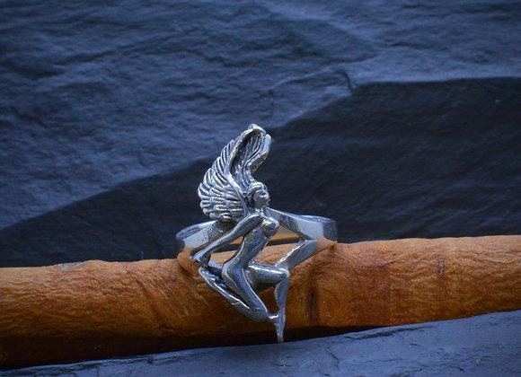 """Damenring """"Engel"""" 925er Silber, Gr. 52"""