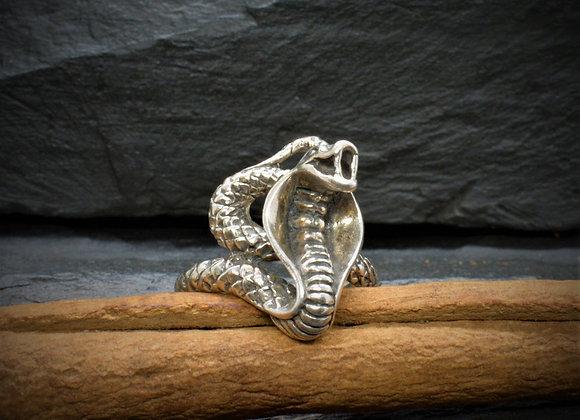 """Schlangenring """"Cobra"""" 925er Silber, Gr. 57"""