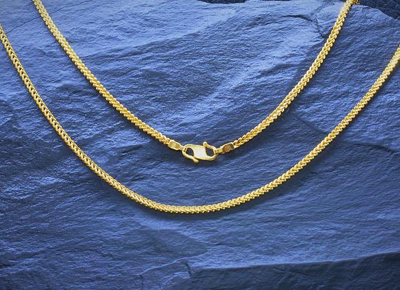 Zopfkette 916er Gold, 46,0 cm