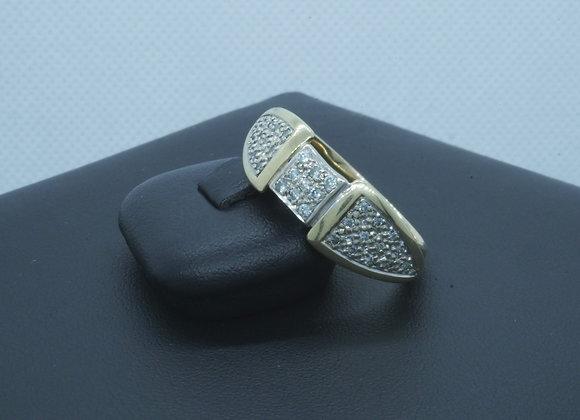 Damenring 585er Gold mit Diamantbesatz ca. 0,33 Kt., Gr.60