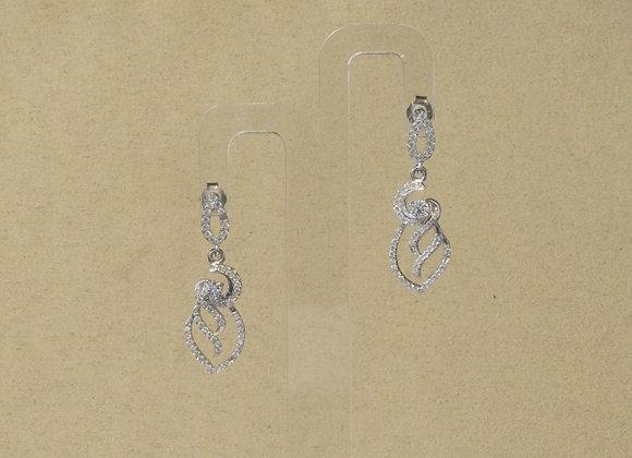 Ohrhänger 925er Silber mit Zirkonia-Besatz