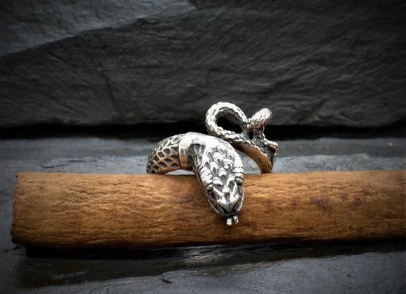 Schlangenring 925er Silber, Gr. 53
