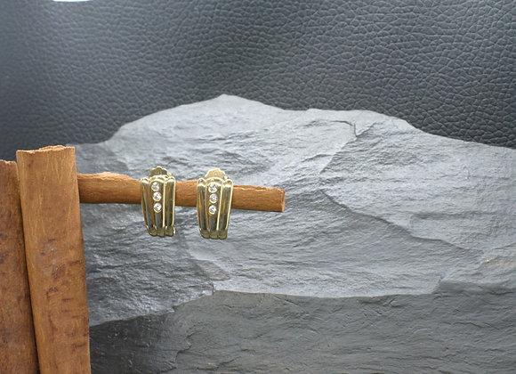 Ohrringe 585 (14 ct.) Gelbgold mit Zirkonia Besatz