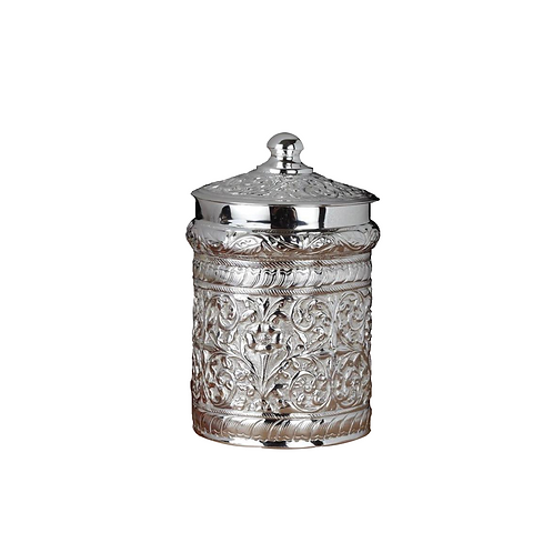 SILVER PLATED CHITAI CONTAINER