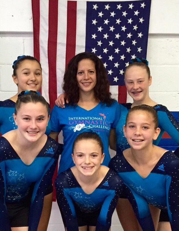 GymNation Gold Team with Head Coach