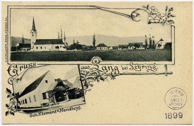 Ansichtskarte 1899 (Klement war später Kaufhaus Reiter/Rottenmanner)