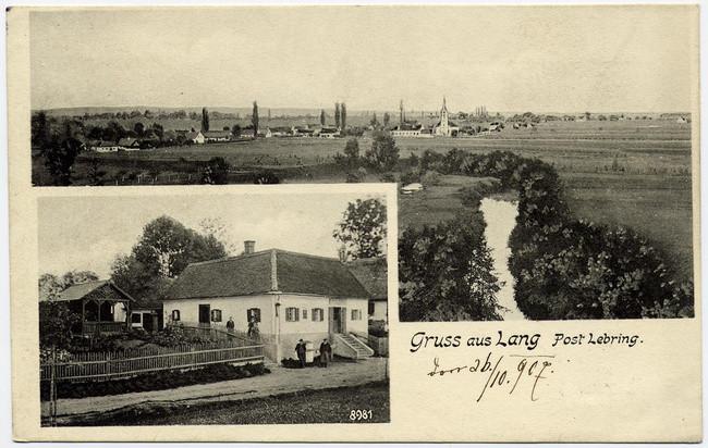 Ansichtskarte 1907 (Kaufhaus-Gasthaus Haubner - Lang)