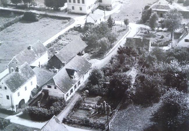 Flugbild um 1960 von Kaufhaus Reiter aus gesehen