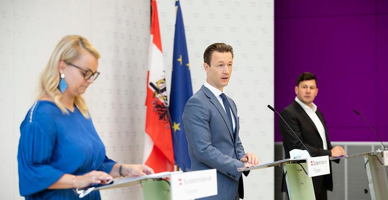 Pressekonferenz Bundesministerium für Finanzen