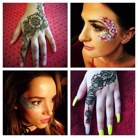 glitter henna bat mitzvah party