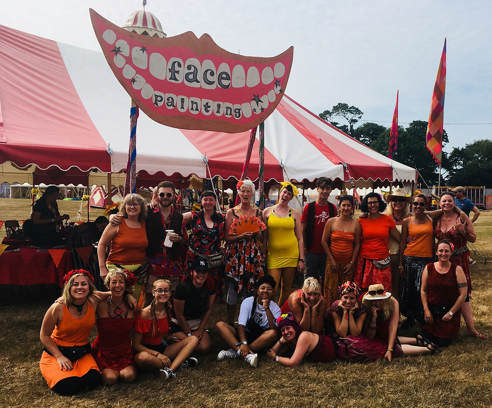 Camp Bestival Face painting dream team