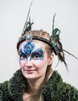 Peacock Face Paint