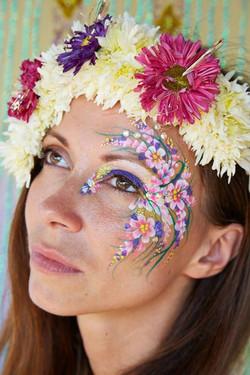 Flower Girl Face Paint
