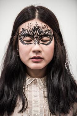 Tribal Eye Mask face art